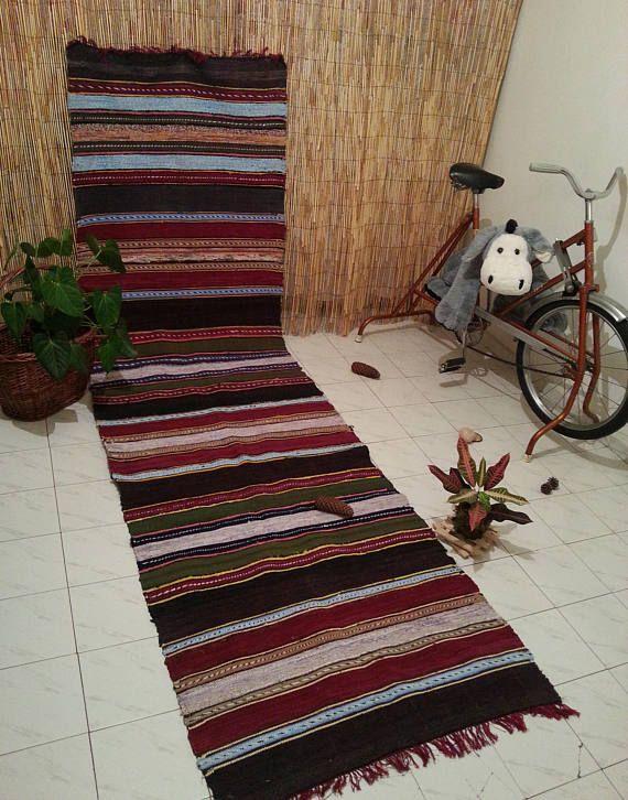 Textile Rug Hallway Navajo Cottage Braided Garden Rag Runner Large Turkish Kilim Tapis Vintage Area 3x10