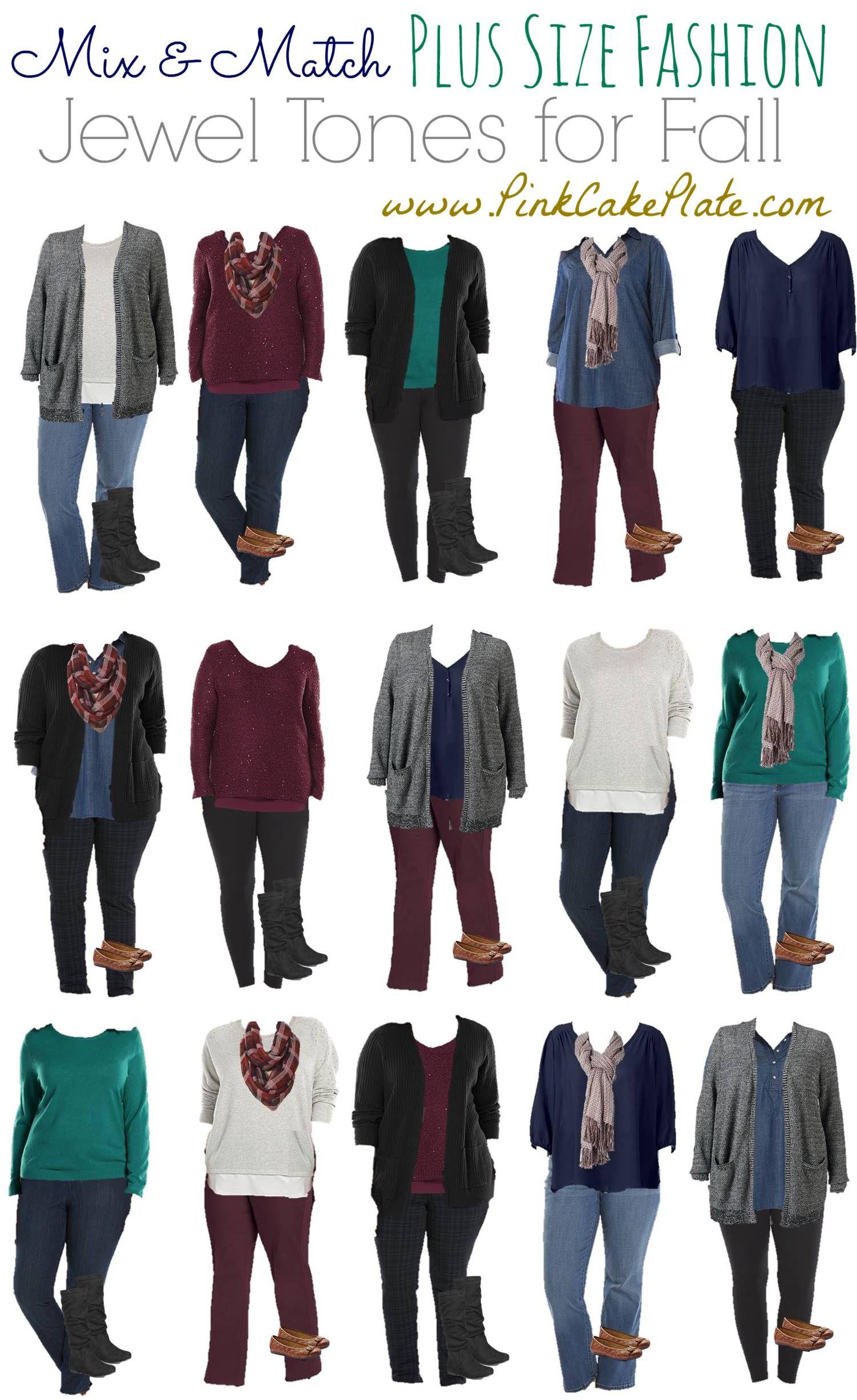 Mix and Match Plus Size Fashion Jewel Tones   Plus size ...