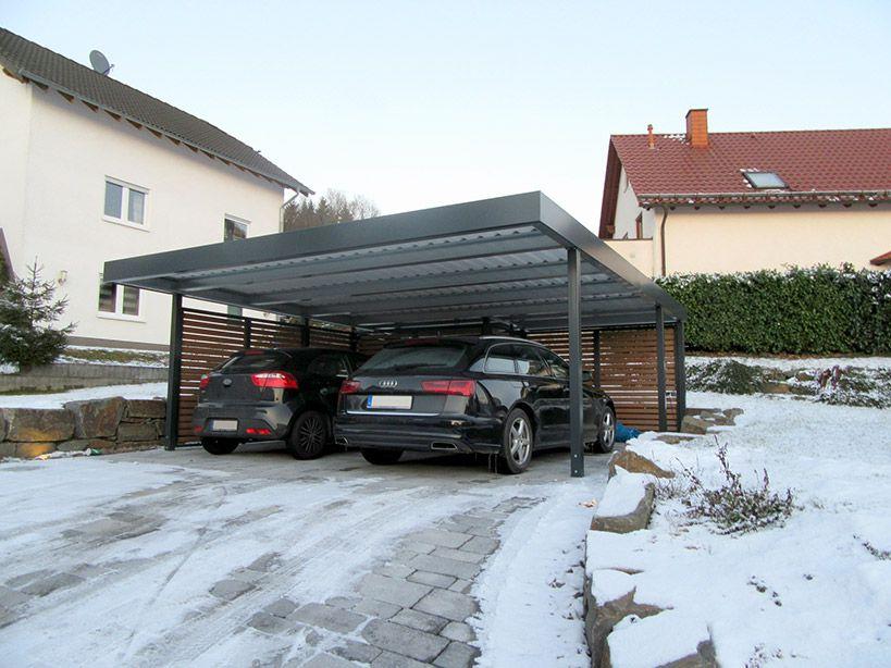 Carport für 2 Stellplätze, Doppelcarport von Siebau