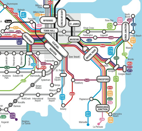 Sydney A New Frequent Network Diagram  Maps    Sydney