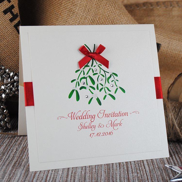 Santa Baby Wedding Stationery Handmade Wedding Invitations