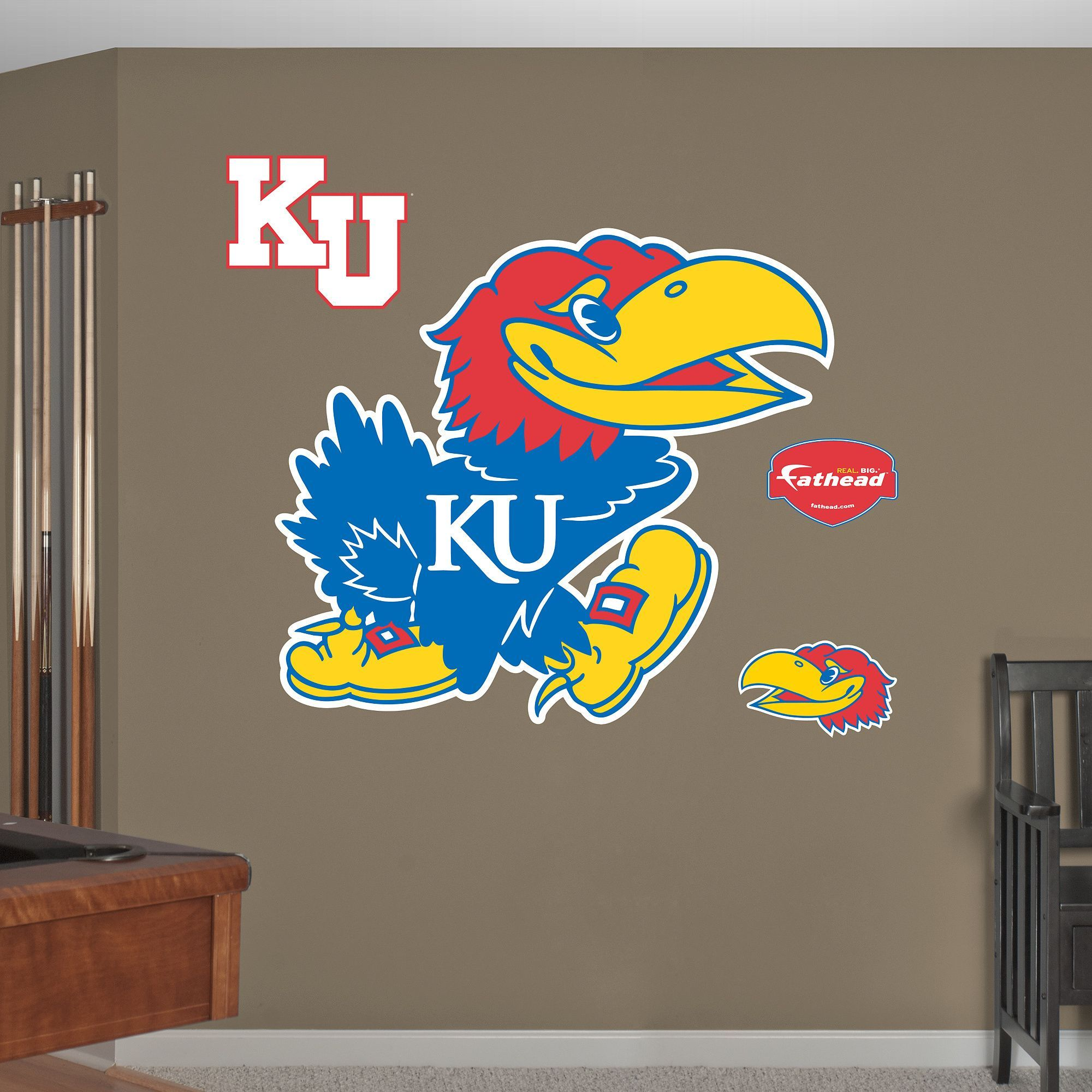 Fathead Kansas Jayhawks Logo Wall Decals My Jayhawks Pinterest - How to put a decal on my wall