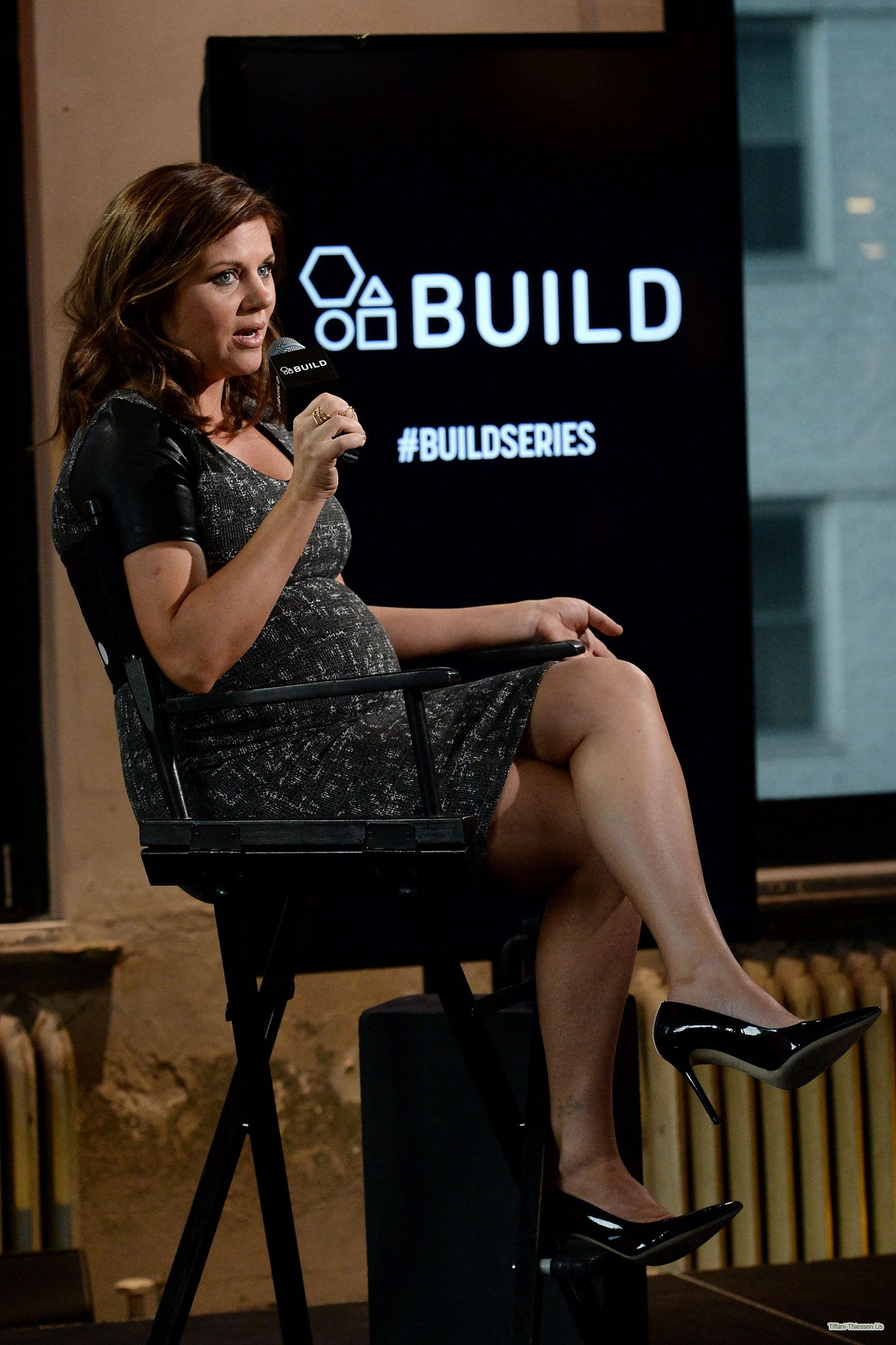 Tiffani Thiessen attends AOL BUILD Speaker Series at AOL Studios in New York on February 24, 2015 in New York City.