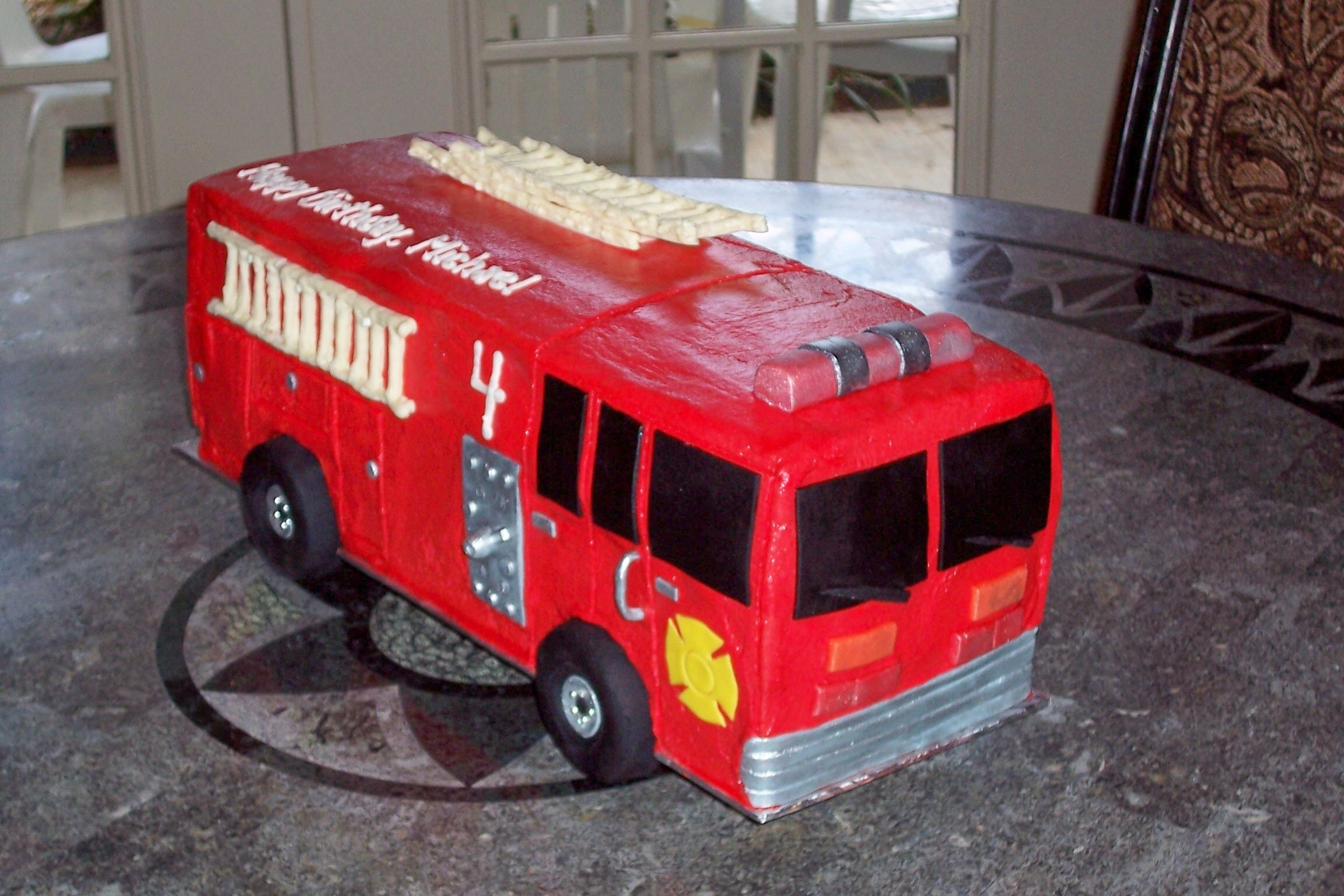 Polizei Kuchen Fire Engine Birthday Cake Shared By Lion Torte