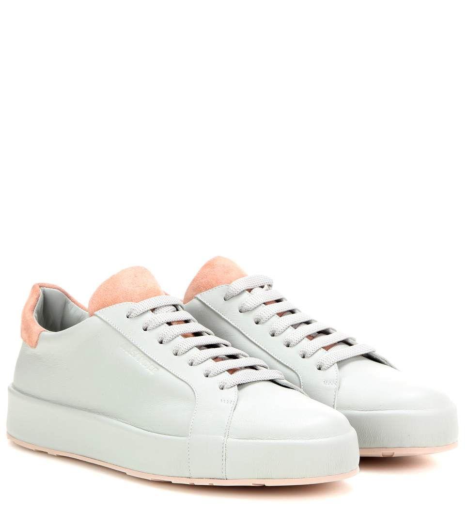 JIL SANDER Leather Sneakers. #jilsander #shoes #sneakers