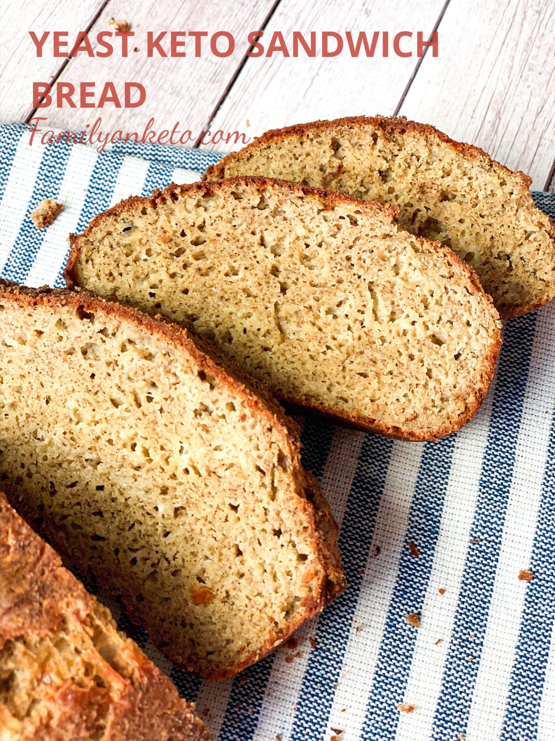 Yeast keto sandwich bread | Recipe in 2020 | Low carb ...