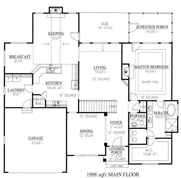 Rambler Floor Plans With Walkout Basement Ranch House Floor Plans House Plans House Plans One Story