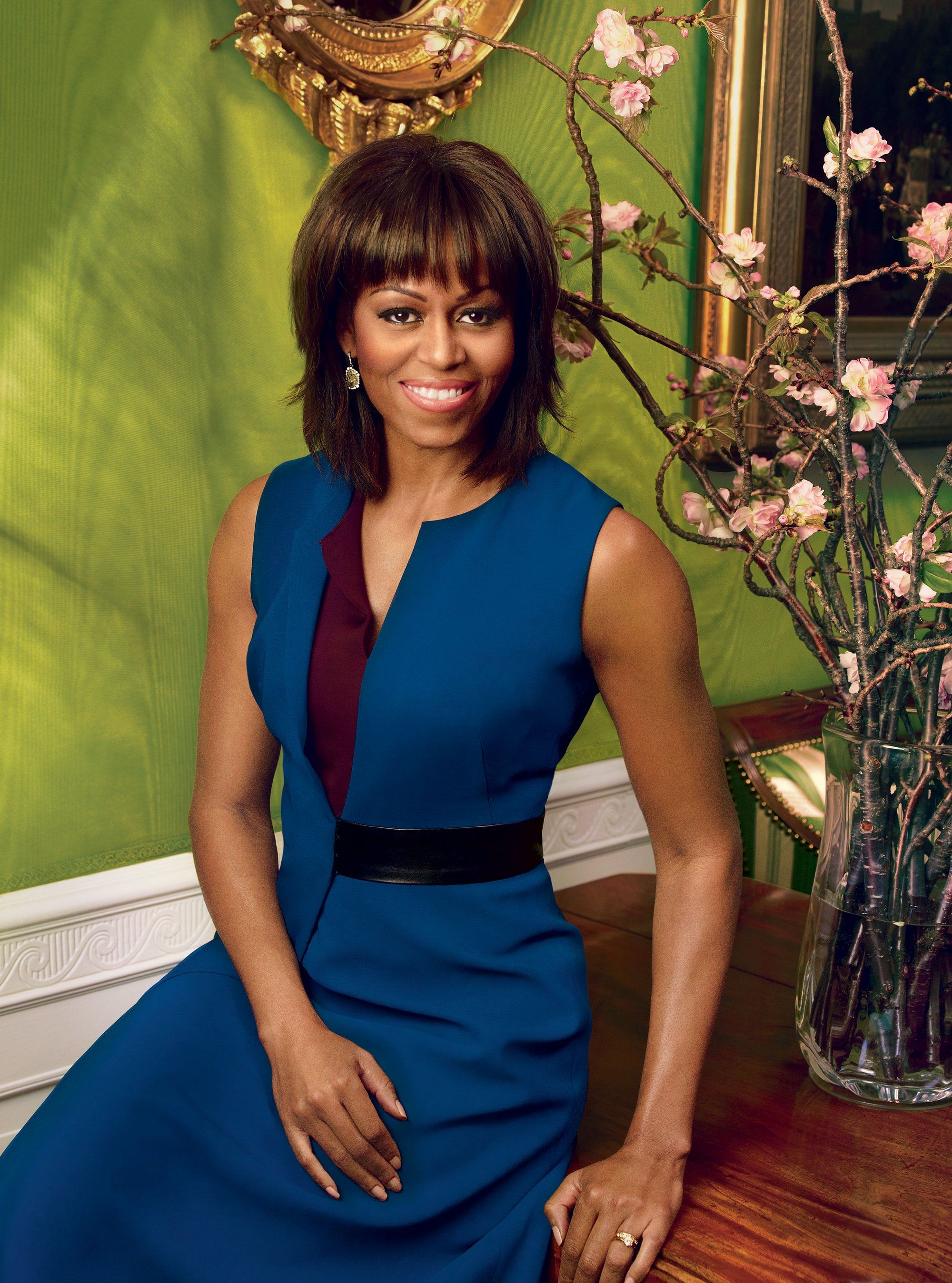 First Lady Michelle Obama in Reed Krakoff