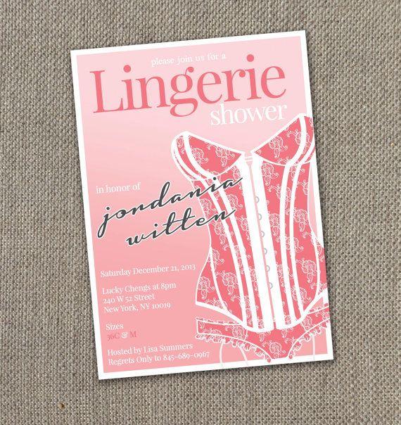 Lingerie Shower - Bachelorette Invitation, Victorias Secret Bachelorette Invite!