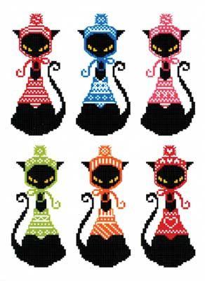 Black Cat Knits Bookmark (cross stitch)