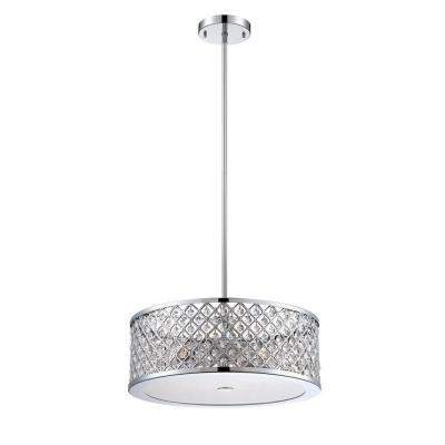 Home Decorators Collection 3 Light Chrome Convertible Semi Flushmount Pendant With Frosted Crystal Shade 24894 Hbu The Home Depot Home Decorators Collection Fireplace Lighting Glass Pendant Light