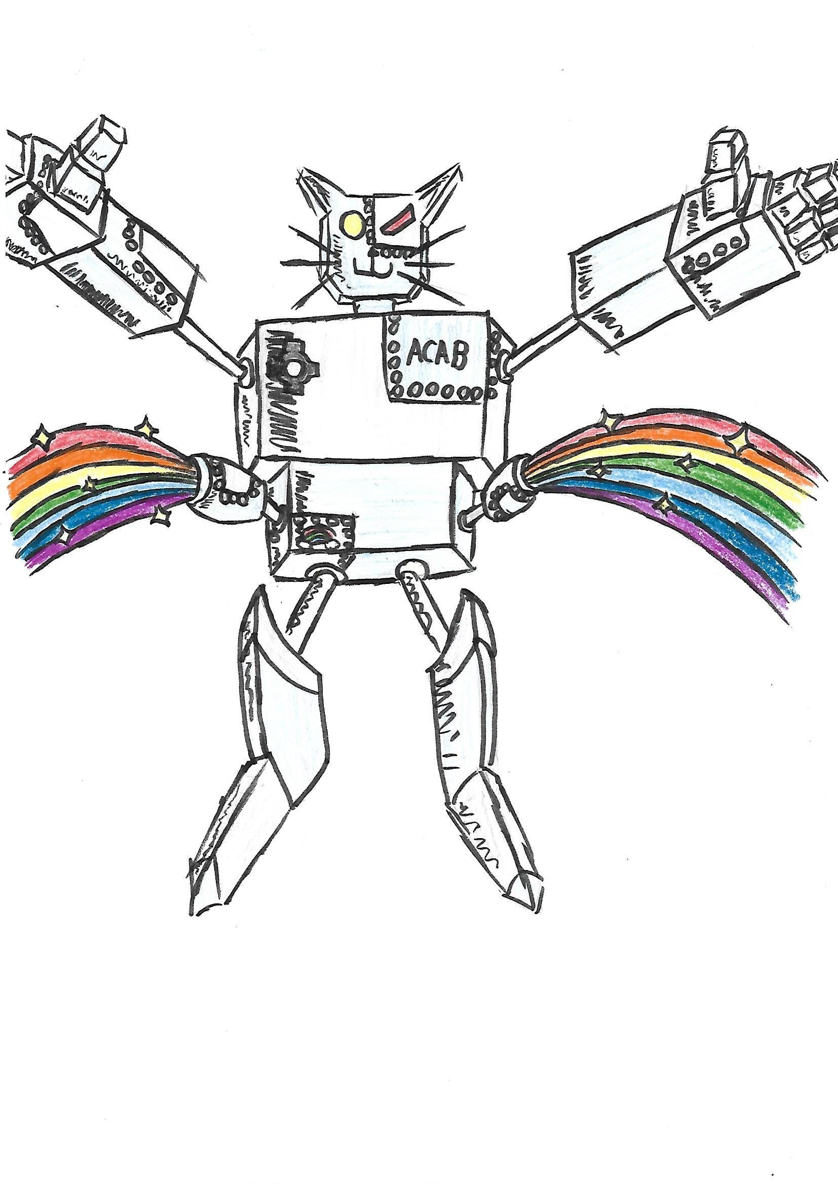 Este es Supergatitobot, una cosa que se me ocurrió un día que me aburría, ¿qué os parece?
