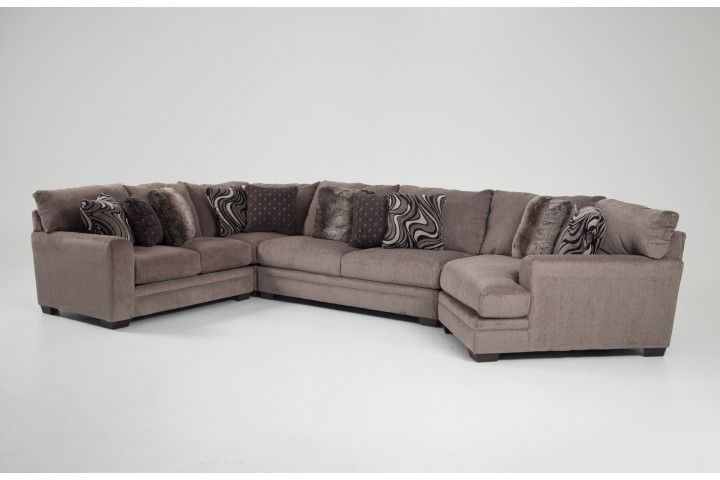 Luxe 4 Piece Sectional With Cuddler Chaise Furniture Couch
