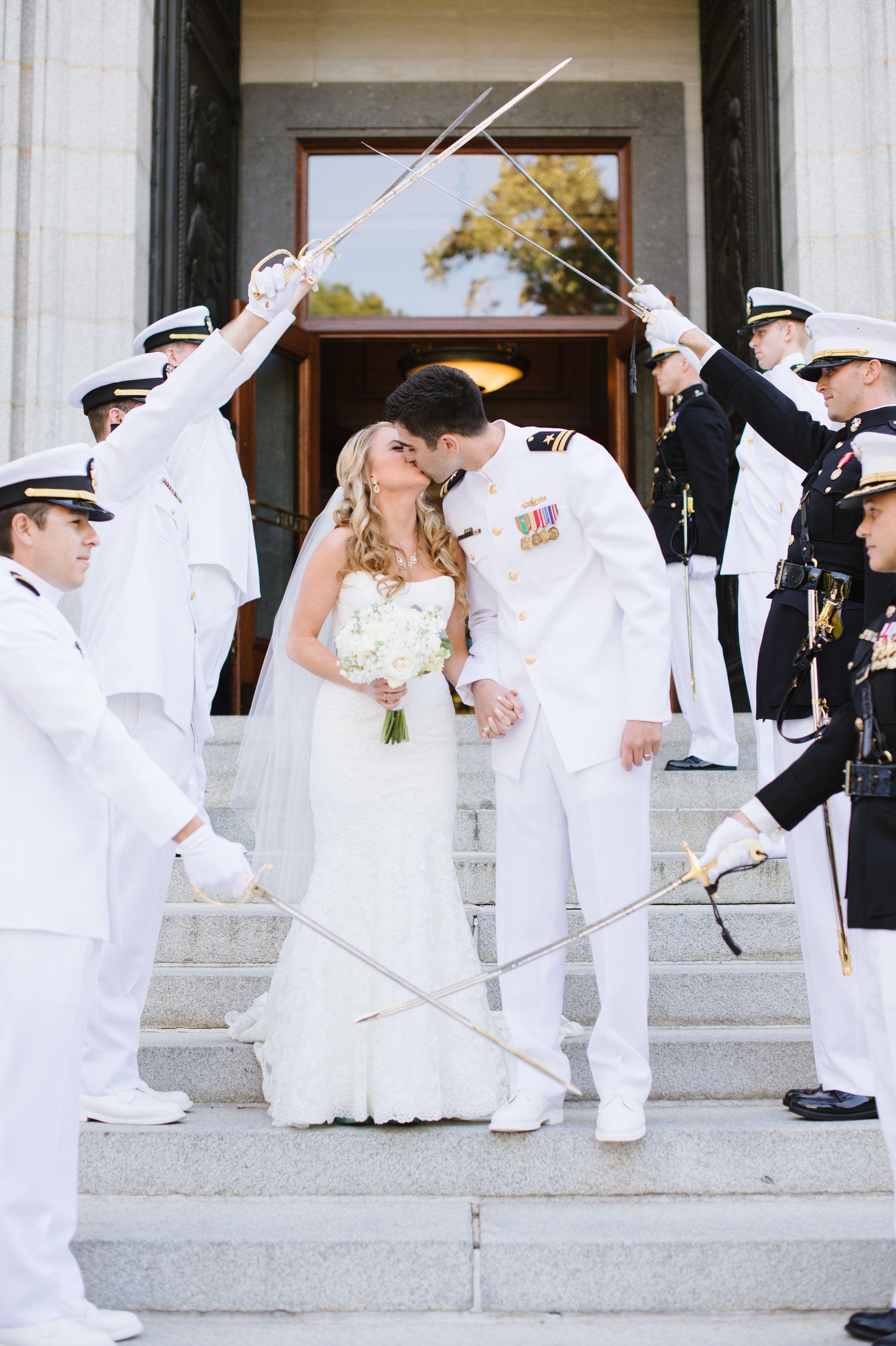 Military style wedding dresses