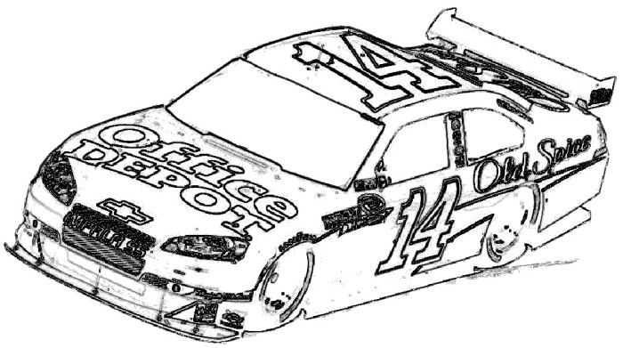 Race Car Racing Coloring Page Cars coloring pages