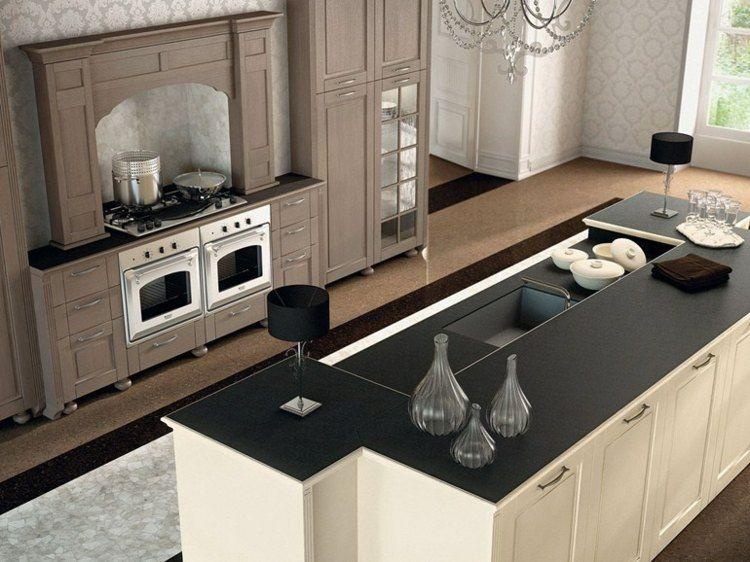 designküche mit zentraler insel   küchen design, moderne