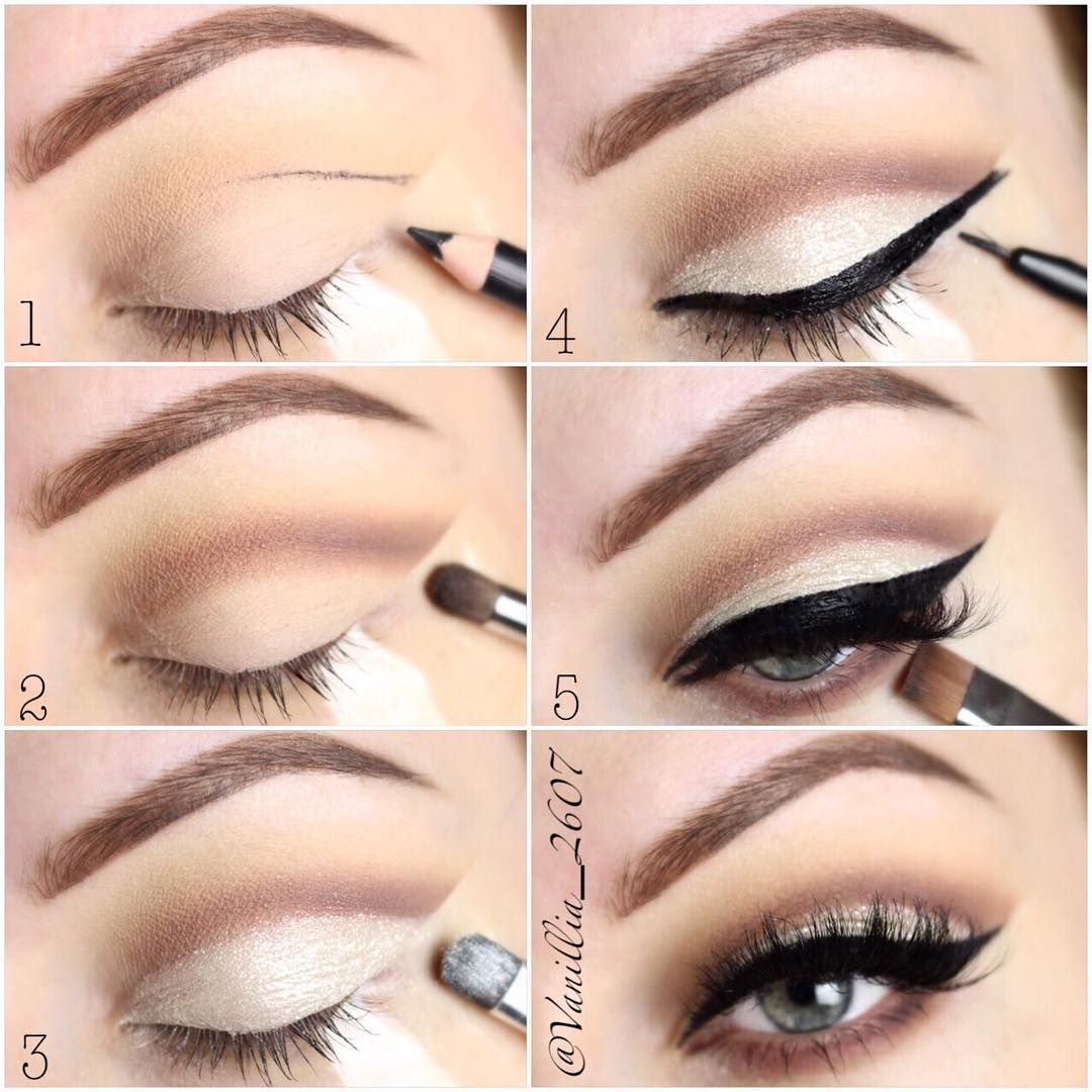Step by Step tutorial for yesterday's soft cut crease look