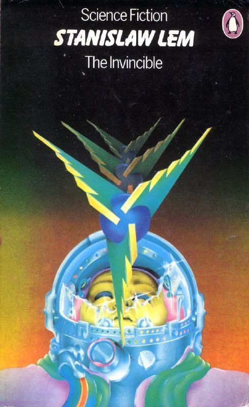 """The Invincible""by Stanislaw Lem, Cover Art by Peter Tybus, 1972 Penguin (original 1964)"