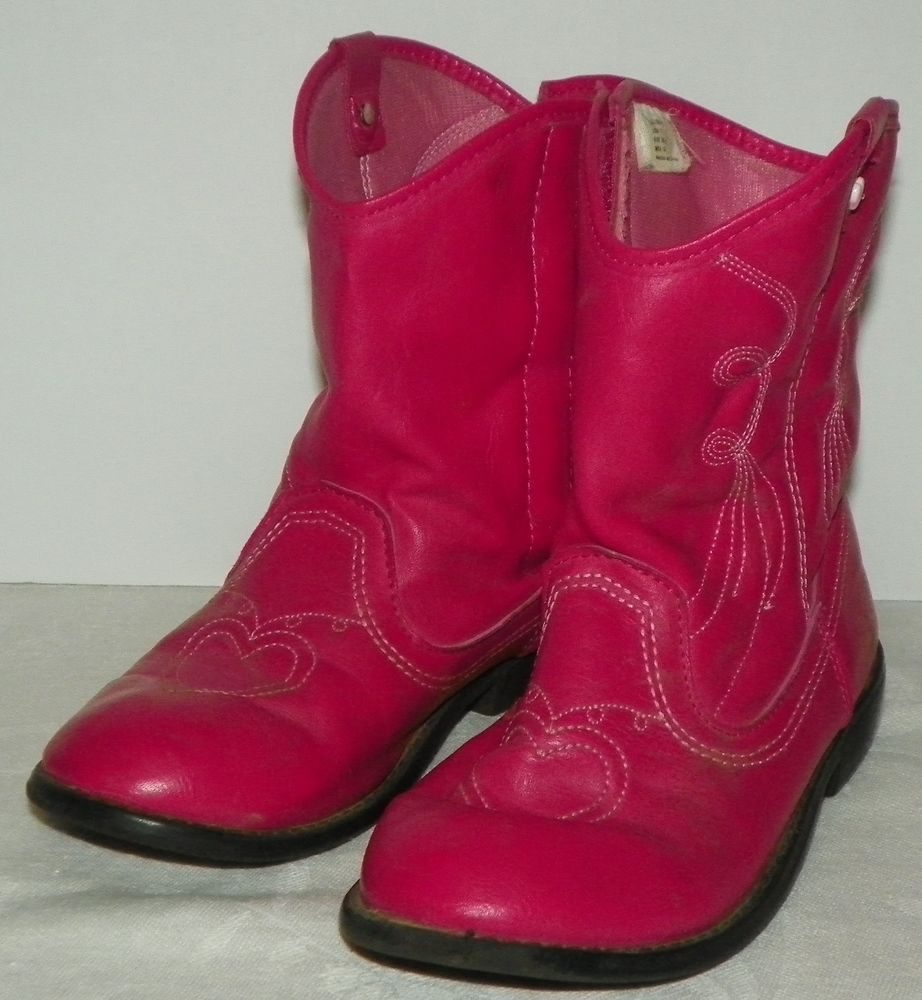 2a03e2f64ec Details about Pink Cowboy Boots Cat And Jack Toddler Size 6 ...