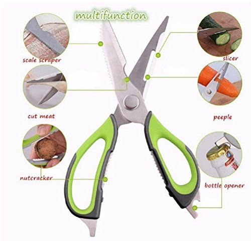 Ferbixo Kitchen Shears Heavy Duty Stainless Steel And Multifunctional Easy To Clean 7in1 Multipurpose Ki Fish And Chicken Cooking Tools Chicken Casserole Easy