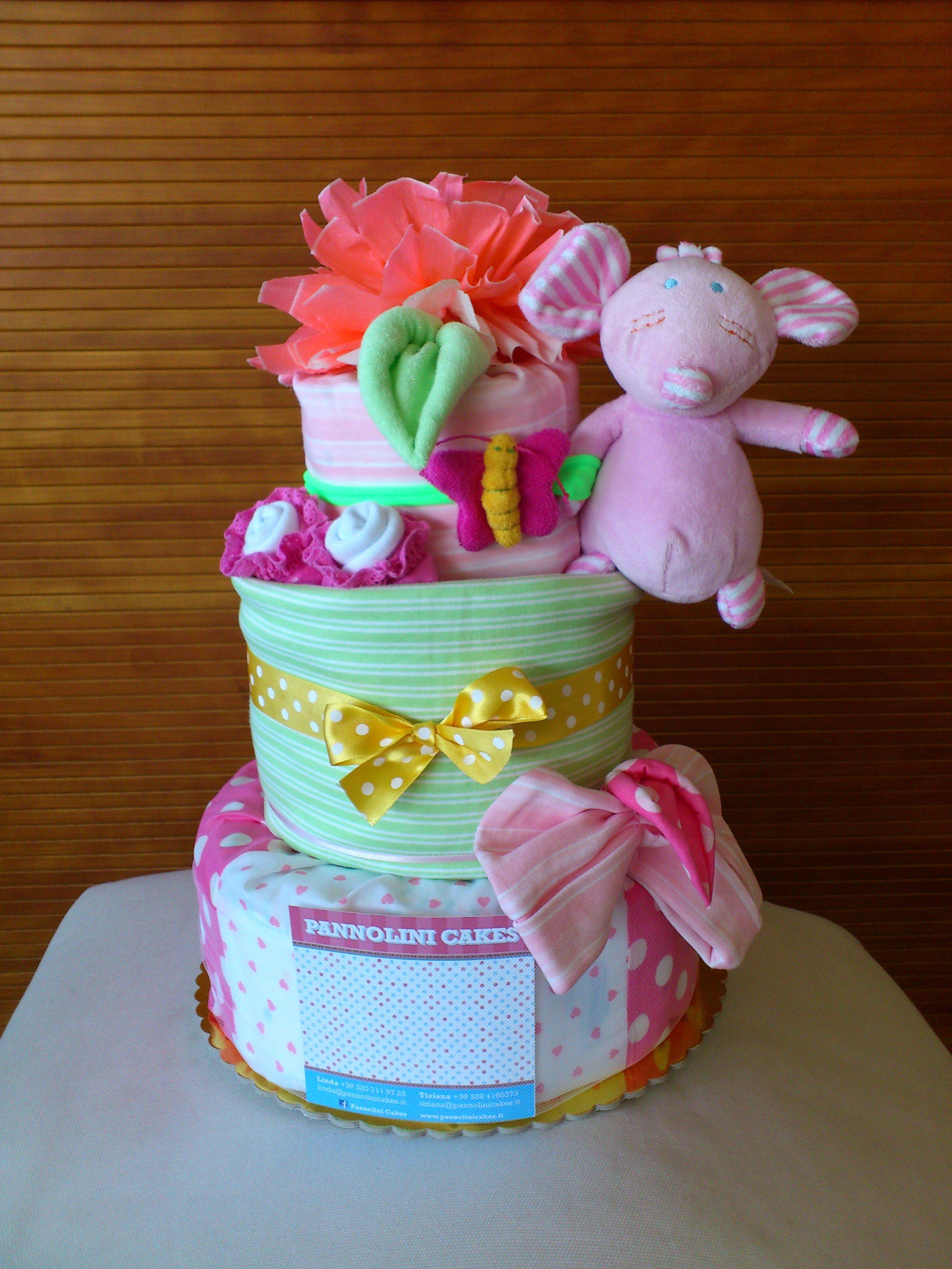 torte di pannolini . diaper cakes