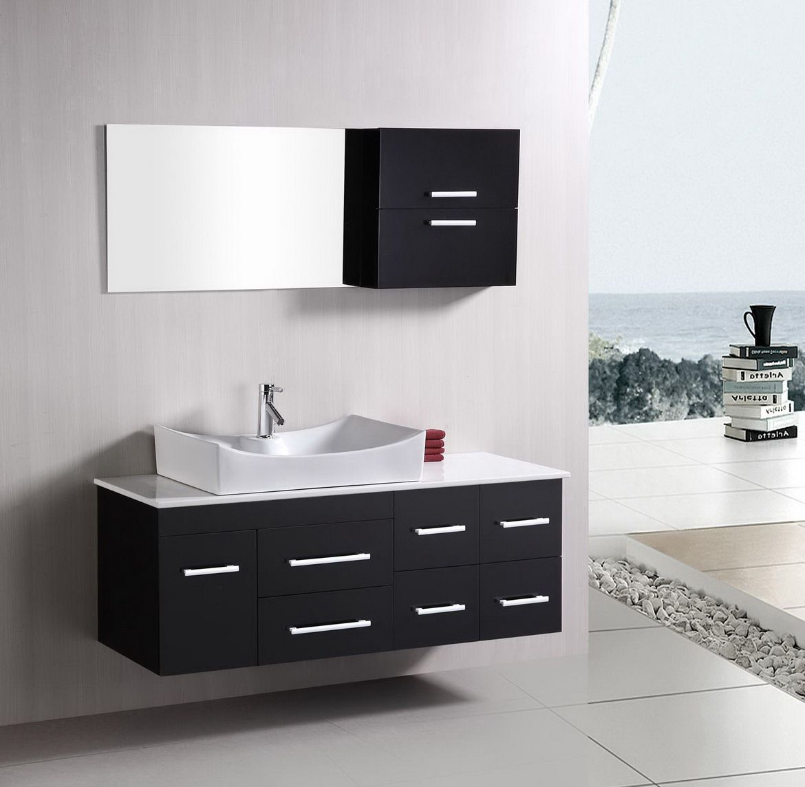 Bathroom Vanities Making Bathrooms A Place To Relax - Black mirrored bathroom cabinet for bathroom decor ideas
