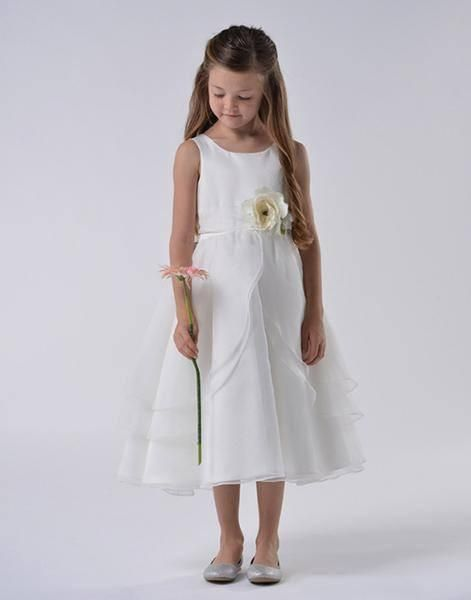 d04e4ef680f3 White Multi Layered Organza Dress With Sash. White Flower Girl Dress Multi  Layered Organza Dress Girls Special Occasion ...