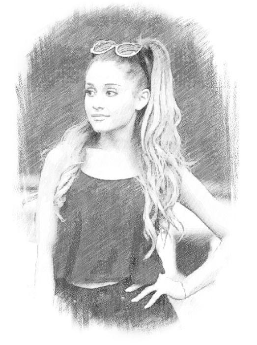 Ariana grande drawing más
