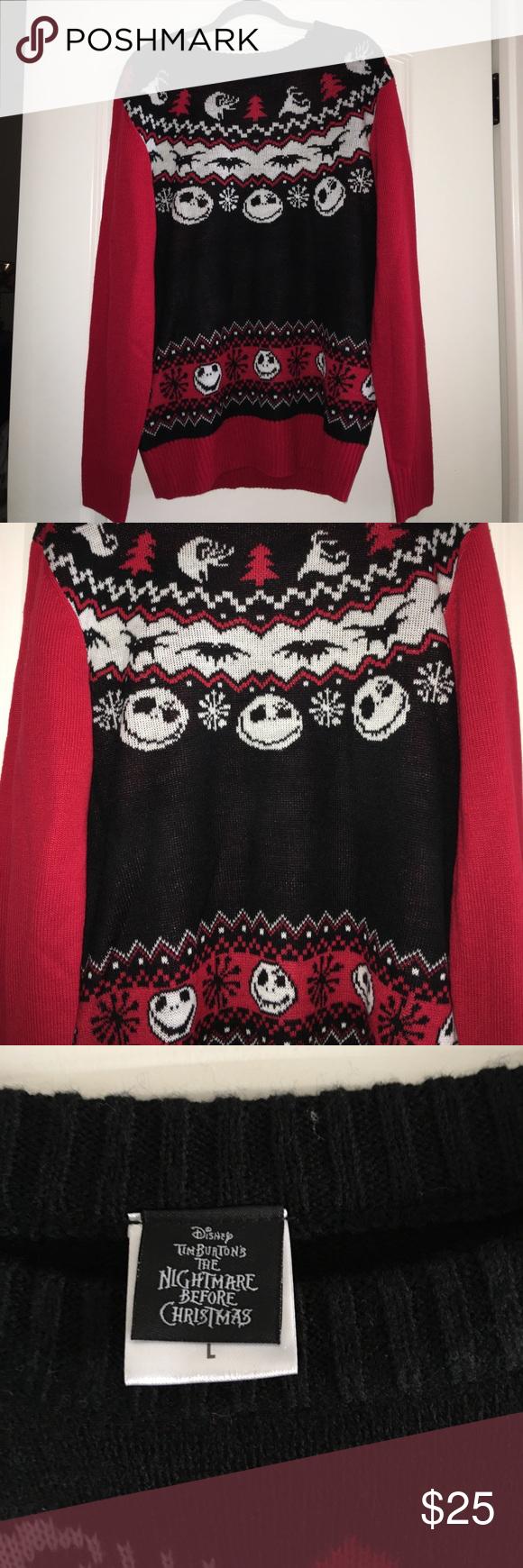 Nightmare Before Christmas Ugly Christmas Sweater My Posh Picks