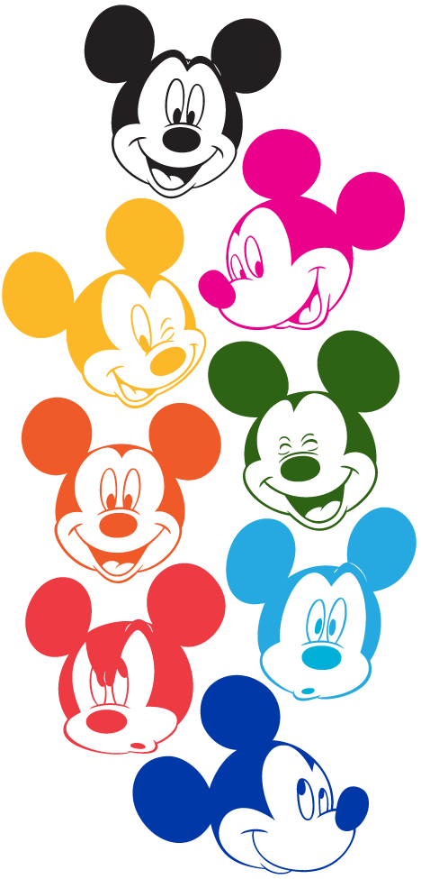 Mickey Mouse Faces in Technicolor (colored by me)                                                                                                                                                                                 More