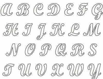 Alfabeto Moldes De Letras Letras En Cursiva Mayuscula