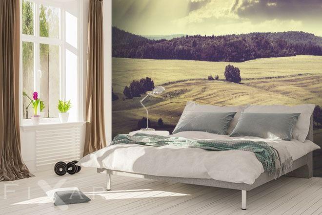 Fototapeten Aussicht auf Felder in der Sonne | Schlafzimmer ...