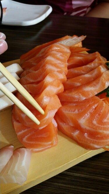 Salmon Sashimi.