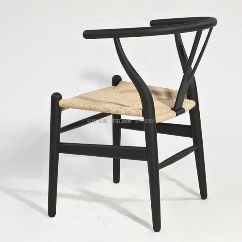 Reproductie Design Stoelen.Wishbone Stoel Ch24 Rattan Kleur Replica Design Meubelen