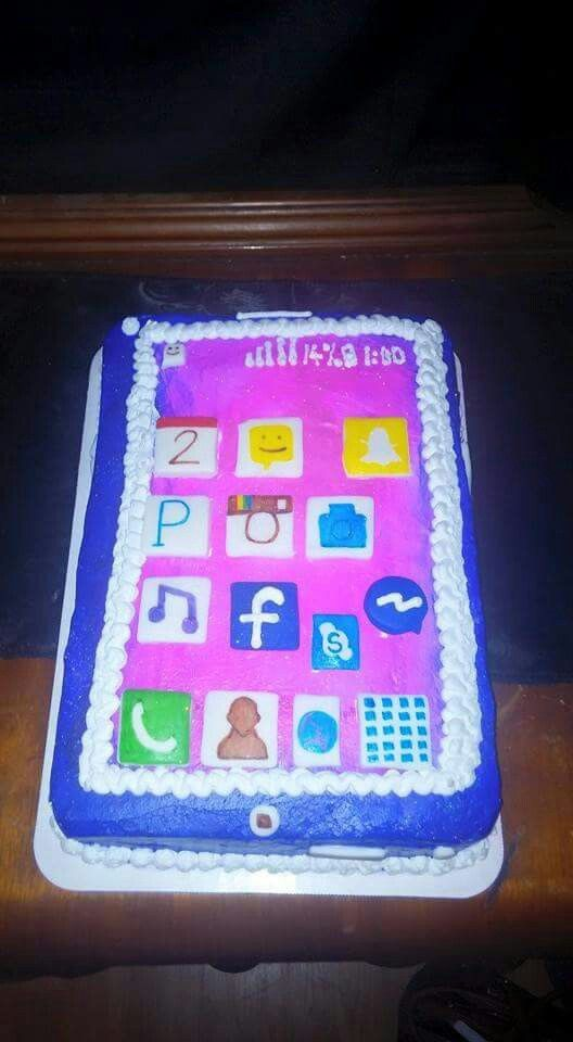 Cell Phone Cake that I Made Tech night party Pinterest Cake