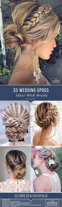 33 Wedding Updos With Braids