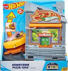 Mattel Hot Wheels City Downtown Pizza Toss Playset Skroutz Gr Hot Wheels Mattel Hot Wheels Playset