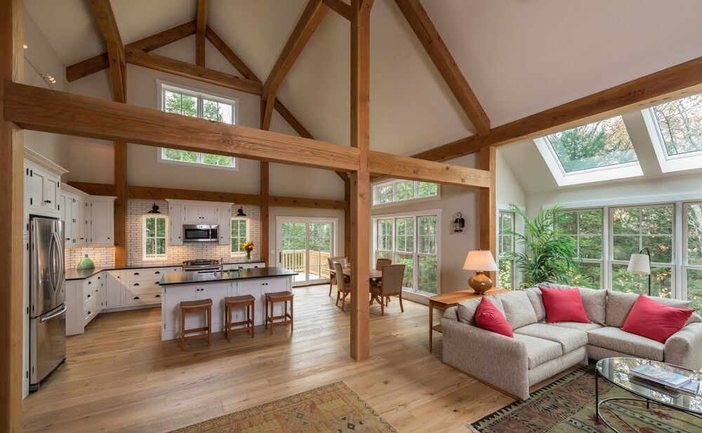 Small Post and Beam Floor Plan Eastman House