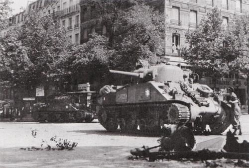 Sherman tanks of general leclerc 39 s 2nd french armoured - French div 2 ...
