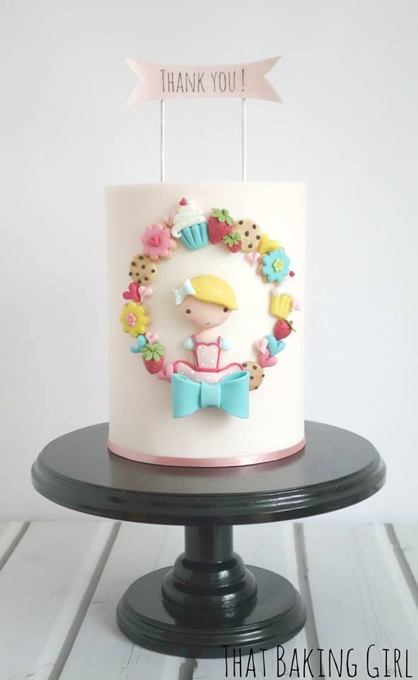 Cute Cake Art Thatbakinggirl Cake Decorating Pinterest Cake