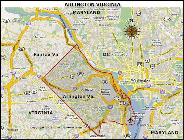 Arlington Virginia Map Arlington, VA map | Washington, DC and more in 2019 | Arlington