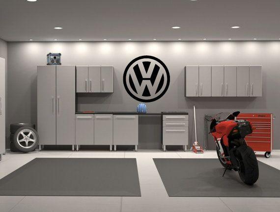 Volkswagen VW Emblem Garage Interior Wall Decal by KickinStickers