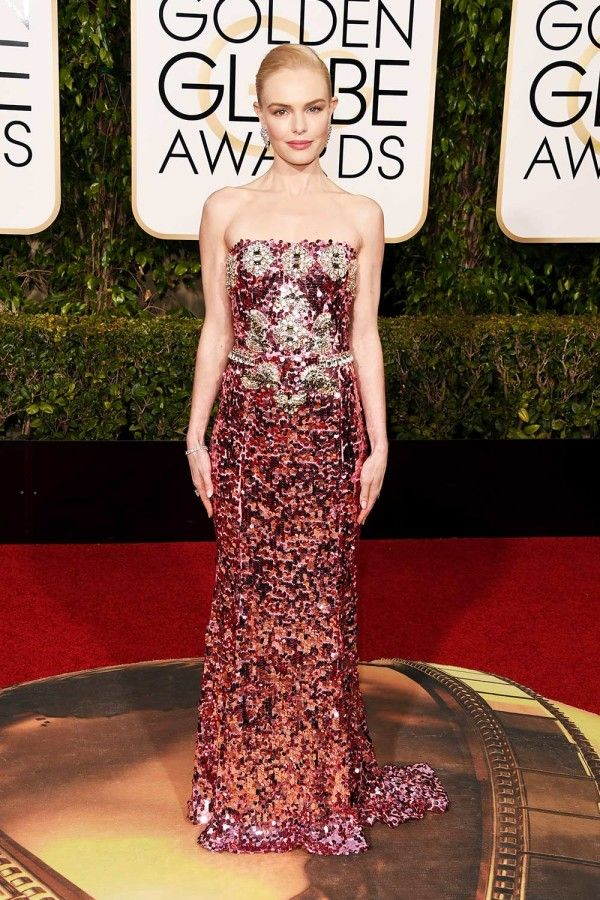 The loveliest Kate Bosworth in this amazing Dolce & Gabbana gown at the Golden Globes