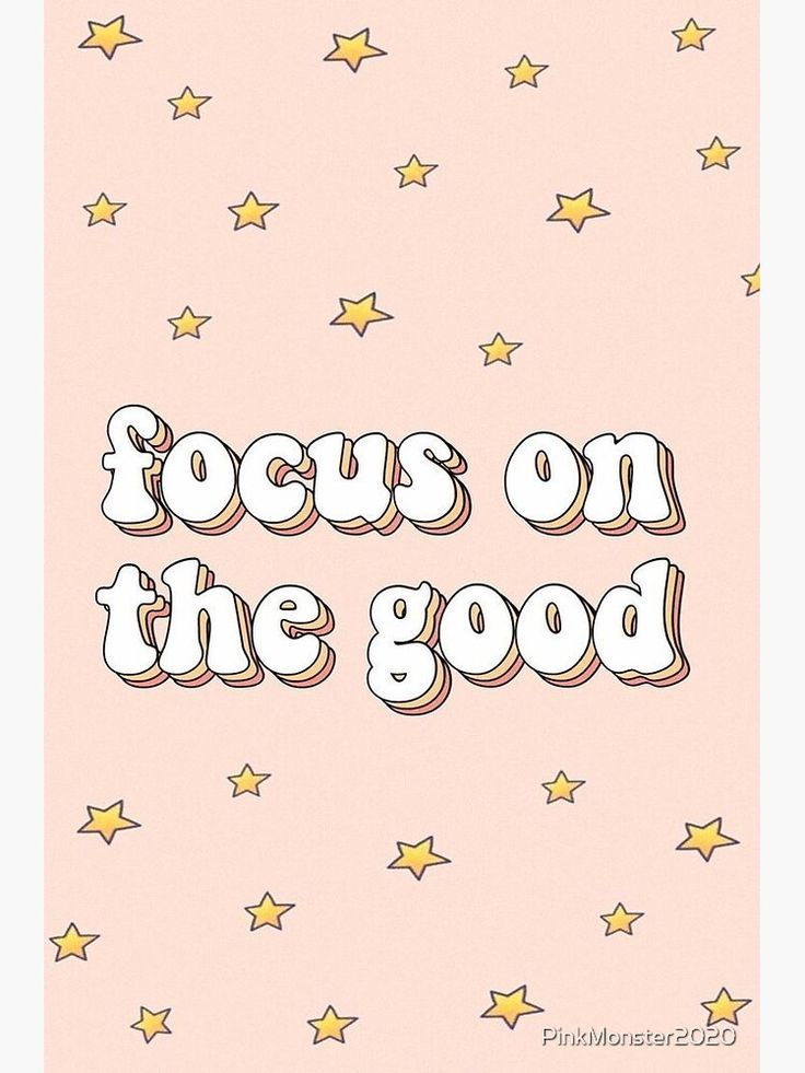 'focus on the good quote' Sticker by PinkMonster2020