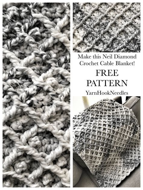 The Neil Diamond Crochet Cable Blanket With Free Pattern
