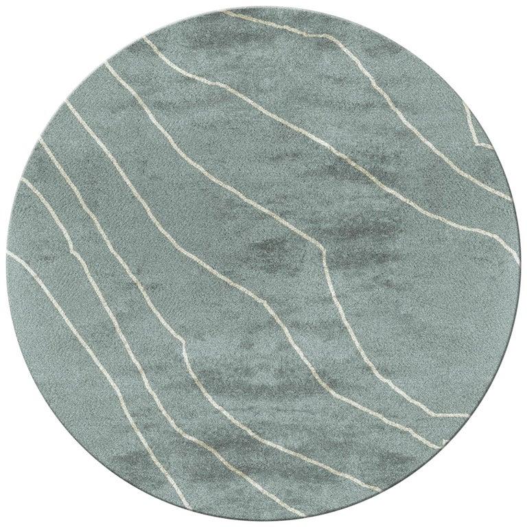 Warao Circular Hand Tufted Tencel Rug Ii In Seafoam Green In 2020 Rugs On Carpet Textured Carpet Hand Tufted Rugs
