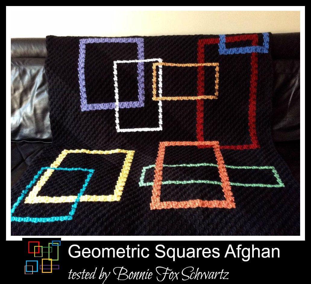 Geometric squares afghan c2c graph crochet pattern afghans geometric squares afghan c2c graph crochet pattern dt1010fo