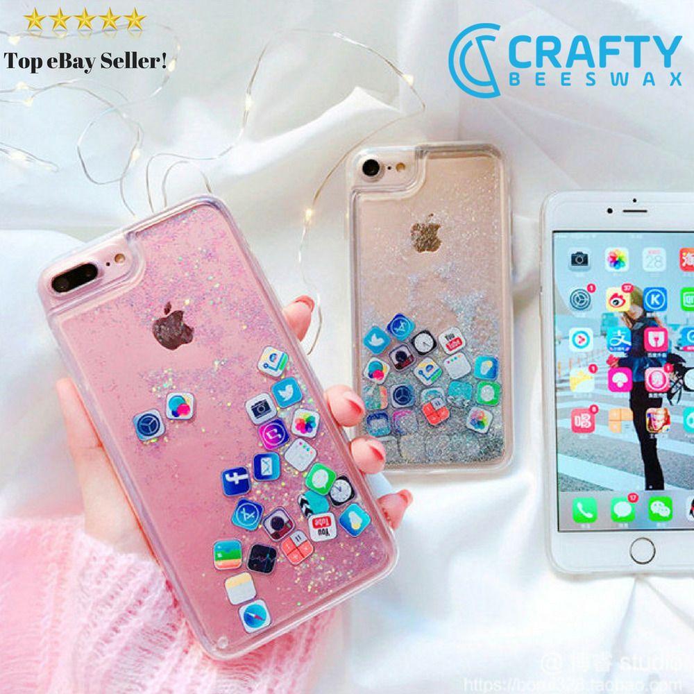 App Icons Liquid Glitter Quicksand Iphone Case Ebay Trendy Iphone Cases Iphone Phone Cases