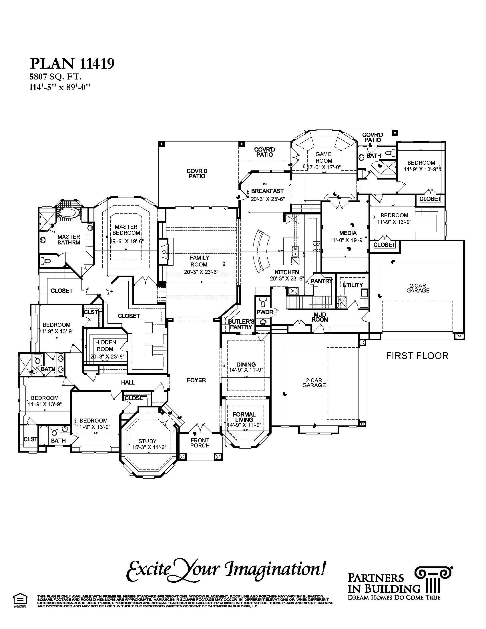great 1 story plan by partners in building floor plans pinterest
