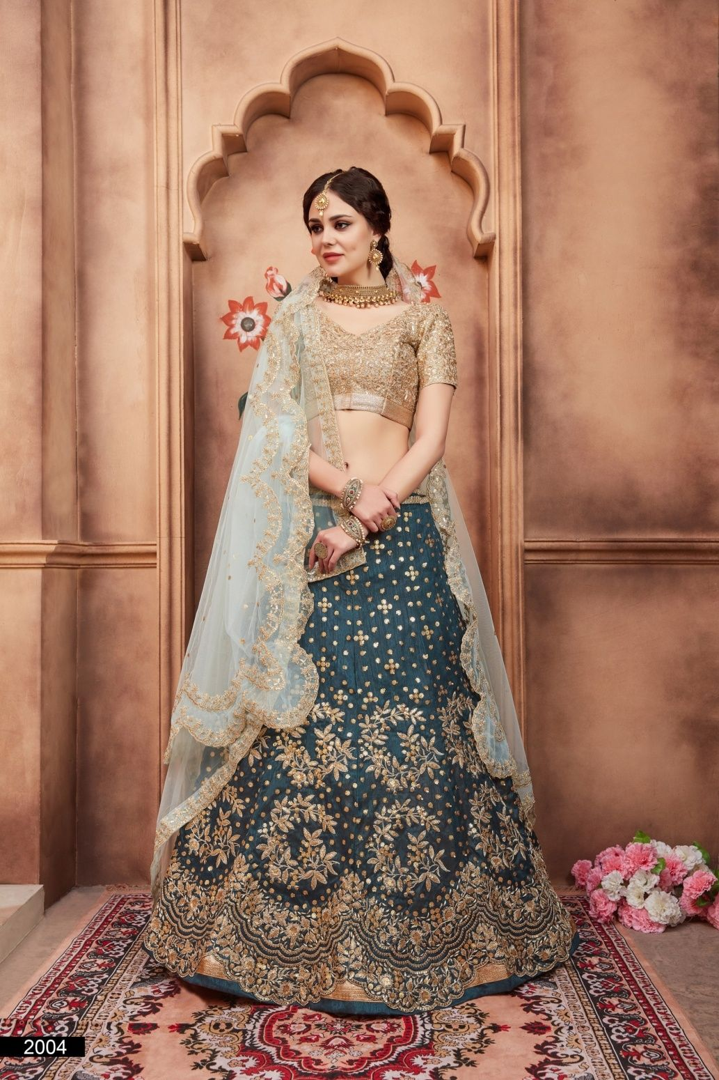 2aaa293564 Buy Party/Ceremonies Charming Teal Colour Lehenga Choli Online at Low  prices in India on Winsant, India fastest online shopping website.